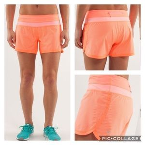🧡Lululemon Groovy Run Short-PopOrange🧡